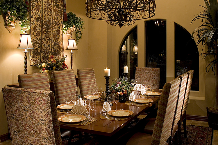 Host many dinner parties in you private, luxury villa's formal dining room