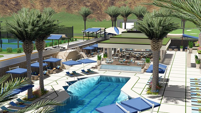 Relaxing pool at The Residence Club La Quinta