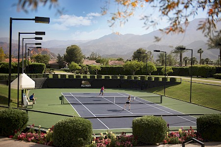 Tennis court at PGA West