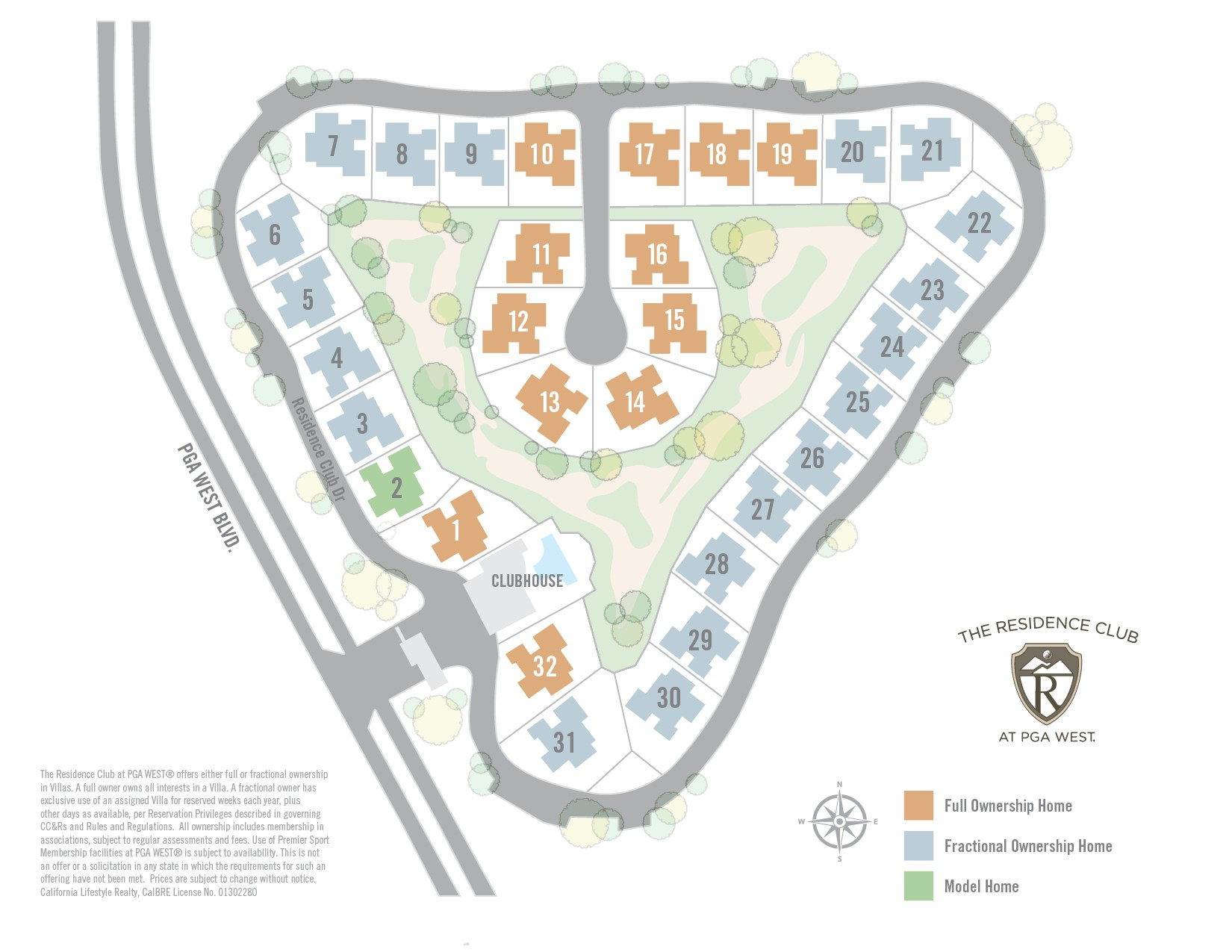 The Residence Club at PGA WEST® Site plan